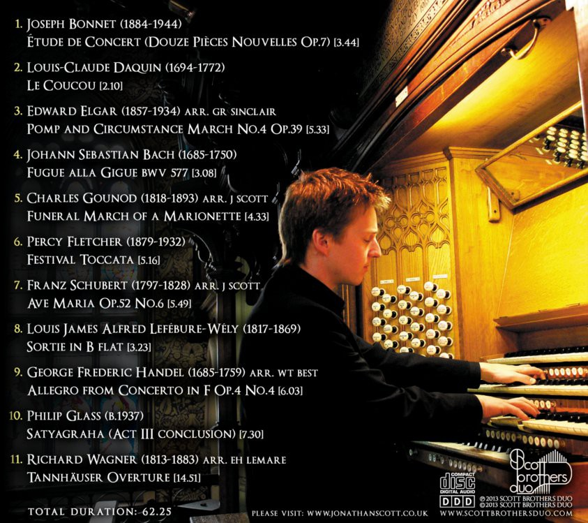 TRACK LIST - THE ORGAN OF ROCHDALE TOWN HALL CD
